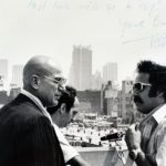 Telly Savalas and Jerry London in New York
